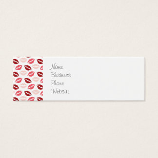 Red Pink Kiss Me Kisses Lips Valentine's Day Gifts Mini Business Card