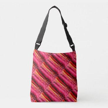 Beach Themed red/pink maui waves Thunder_Cove Crossbody Bag
