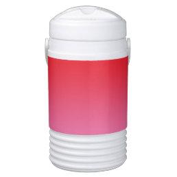 Red & Pink Ombre Beverage Cooler