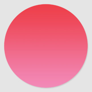 Red & Pink Ombre Classic Round Sticker