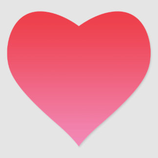 Red & Pink Ombre Heart Sticker