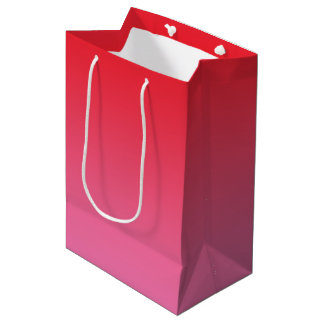 Red & Pink Ombre Medium Gift Bag