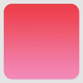 Red & Pink Ombre Square Sticker