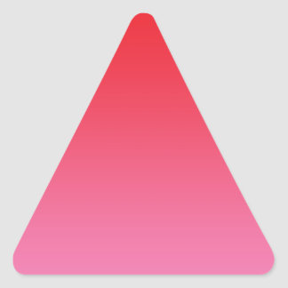Red & Pink Ombre Triangle Sticker