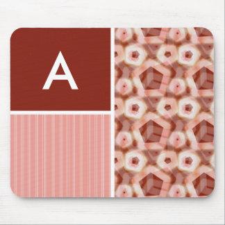 Red Pink Pentagon Pattern Mousepads
