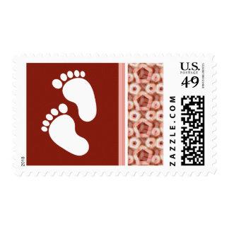 Red & Pink Pentagon Stamp