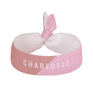 Red & Pink Personalized Name Hair Tie