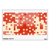 Red & Pink Pixel Pattern Wall Decal