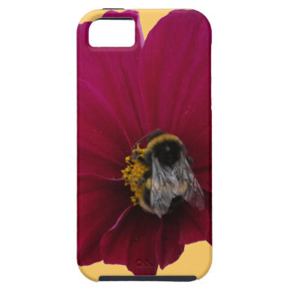 Red Pink poppy Flower & Bumble Bee Iphone5/5s Case