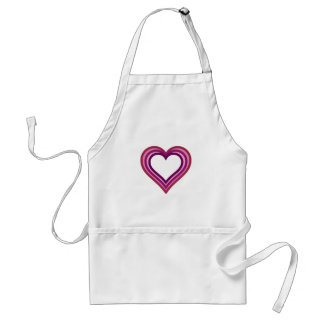 Red Pink Purple Stacked Hearts Apron