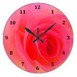 Red & Pink Rose Clock