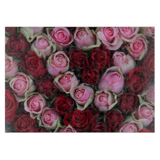 Red & Pink roses by Therosegarden Cutting Board