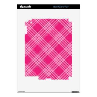 red-pink tartan plaid skin for iPad 2