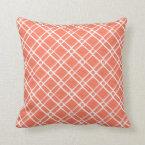 Red, Pink Textured Square, Oblong, Circle Pattern Throw Pillow (<em>$37.85</em>)