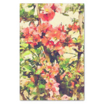 Red Pink Watercolor Floral Pattern 1 Tissue Paper