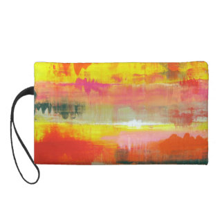 Red Pink Yellow Abstract No. 155  Key Coin Clutch