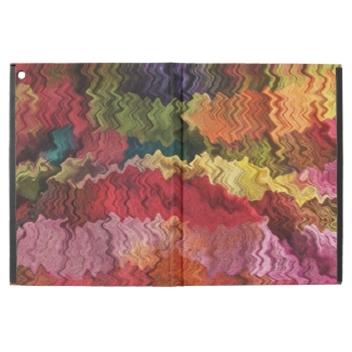 Red Pink Yellow Fabric Abstract iPad Pro Case