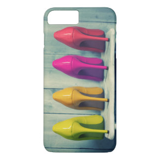 Red Pink Yellow Green Heels Photo Girly iPhone 7 Plus Case
