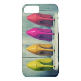 Red Pink Yellow Green Heels Photo iPhone 7 Case