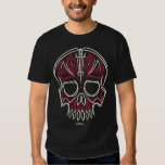 red pinstripe skull - front only t shirt