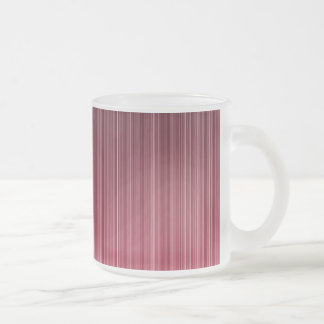 Red Pinstriped Frosted Glass Coffee Mug