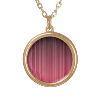 Red Pinstriped Necklaces