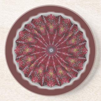 Red Pinwheel Coaster