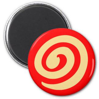 Red Pinwheel Cookie 2 Inch Round Magnet