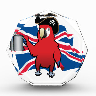 Red Pirate Parrot and a Union Jack Award