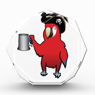 Red Pirate Parrot with a tankard Acrylic Award