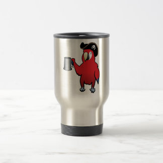 Red Pirate Parrot with a tankard Coffee Mug