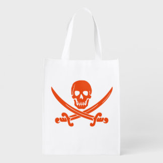 Red Pirate Trick Or Treat Candy Bag