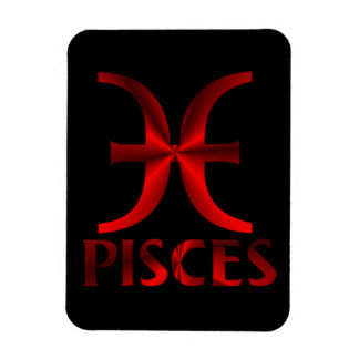Red Pisces Horoscope Symbol Magnet