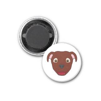 Red Pitbull 1 Inch Round Magnet