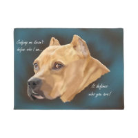 Red Pitbull Dog Doormat