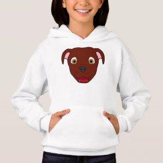 Red Pitbull Face Hoodie