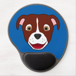 Red Pitbull Face with White Blaze Gel Mouse Pad