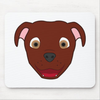 Red Pitbull Mouse Pad