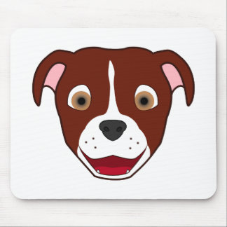 Red Pitbull with Blaze Mouse Pad