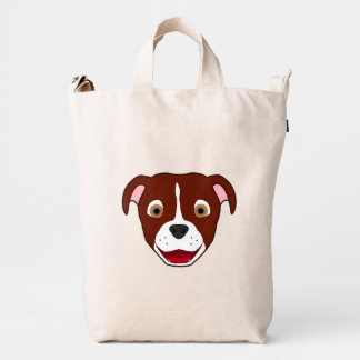 Red Pitbull with White Blaze Duck Bag