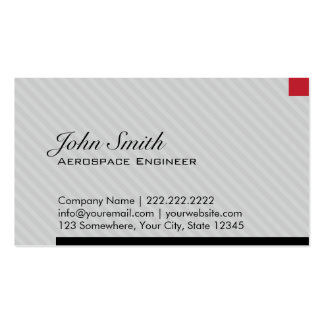 Red Pixel Aerospace Engineer Business Card
