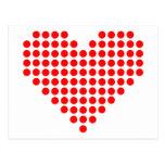 Red pixel heart postcard