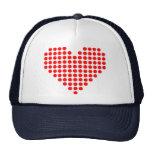 Red pixel heart trucker hat
