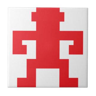 Red pixel monkey logo tiles