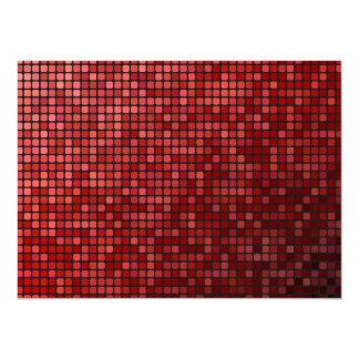 Red pixel mosaic card