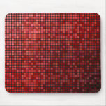 Red pixel mosaic mouse pad
