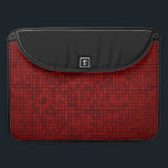 "Red Pixel Pattern Macbook Sleeve<br><div class=""desc"">Red Pixel Pattern Macbook Sleeve</div>"