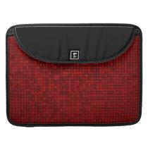 Red Pixel Pattern Macbook Sleeve