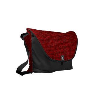 Red Pixel Pattern Small Messenger Bag