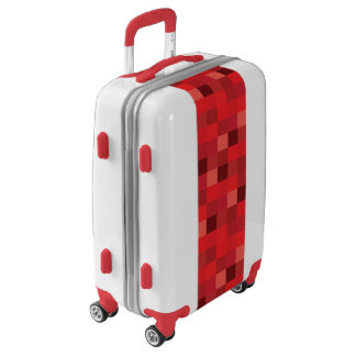 Red Pixelated Pattern Luggage
